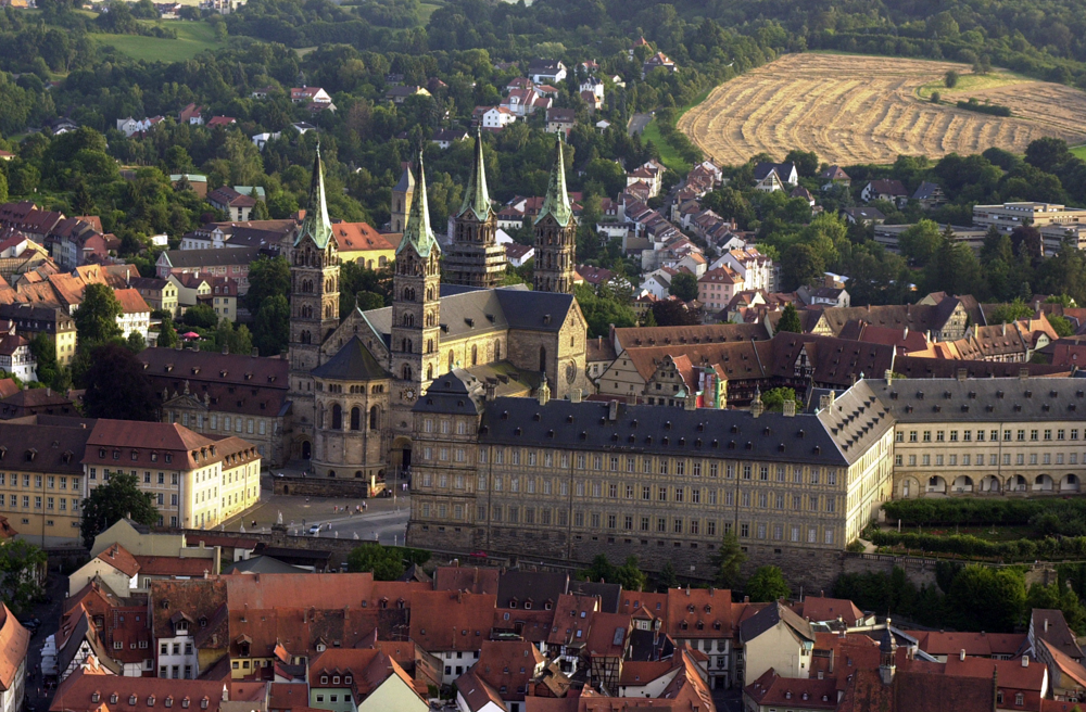 View of Domberg with Bamberg Cathedral